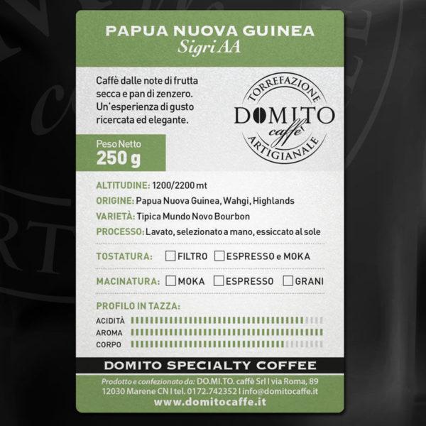 etichetta domito papua nuova guinea