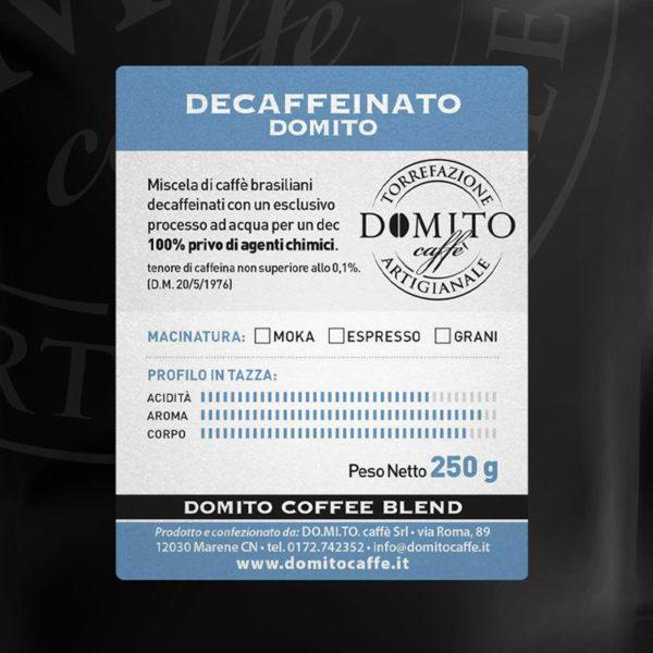 etichetta domito decaffeinato
